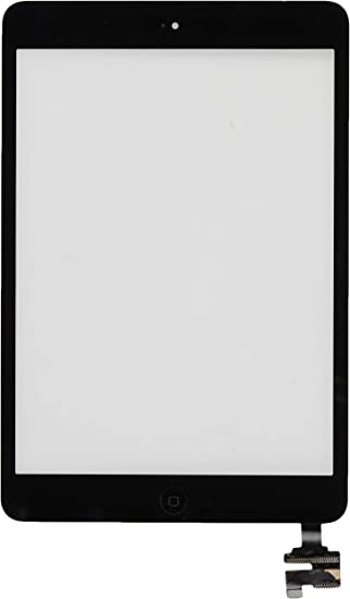 Black Adhesived Digitizer Screen With IC Chip Home Button Flex for iPad Mini 3