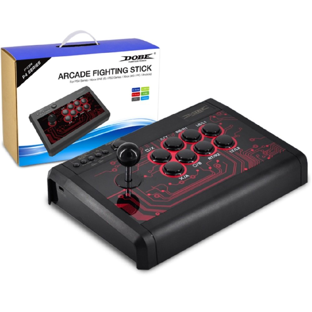 Dobe Universal 6 in 1 Wired Fighitng stick for PS4, PS3, Xbox One, 360 and PC/Android