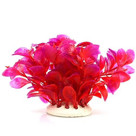 NaiCasy Red Leaf Falsas Plantas de Acuario Artificial Plantas de Acuario decoración para el hogar,