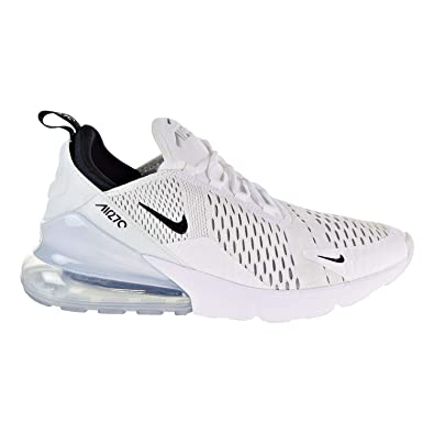 NIKE Air Max 270 (GS), Sneakers Basses Homme, Blanc Black/White