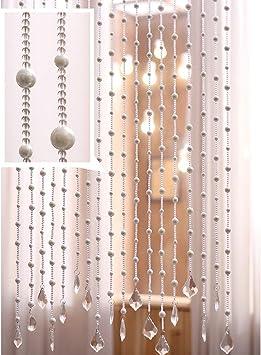 GuoWei-Cortinas de Cuentas pour Puerta Decoración Tabique Salón Dormitorio Armario Colgando Cuerdas Espacio Dividir, Personalizable (Color : A, Size : 40 strands-120cmx100cm): Amazon.es: Hogar