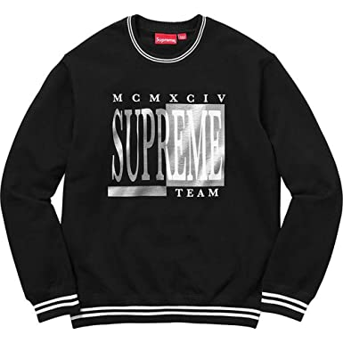 3e5052e6733a SUPREME NEW YORK TEAM CREWNECK Men s Sweatshirt Black Black Large ...