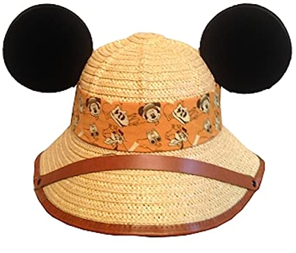 834193a25574b Disney Safari Mickey and Pluto Dinosaur Straw Hat with Ears Youth   Amazon.co.uk  Clothing
