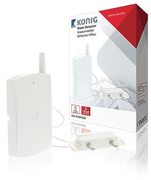 König SAS-ASWA300 Sensor y Sistema de Alerta Inalámbrico Térmico - Detector de Agua (