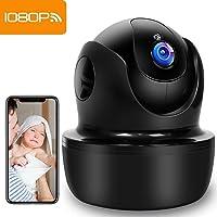 SUPEREYE 1080P Camara Vigilancia, Camara de Vigilancia WiFi Interior FHD con Visión Nocturna, Detección de Movimiento, Audio de 2 Vías, Compatible con iOS/Android, Texto Alarma Via Email/App