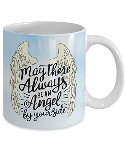 Amazon Com May There Always Be An Angel Quote Mug Inspirational