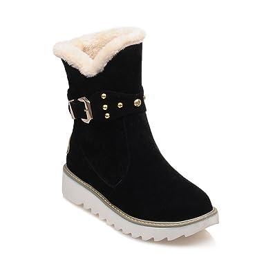 d3dd616d6bc Dahanyi Stylish Warm Faux Fur Waterproof Snow Boots Women Winter Fashion  Ankle Boots Big Size Black