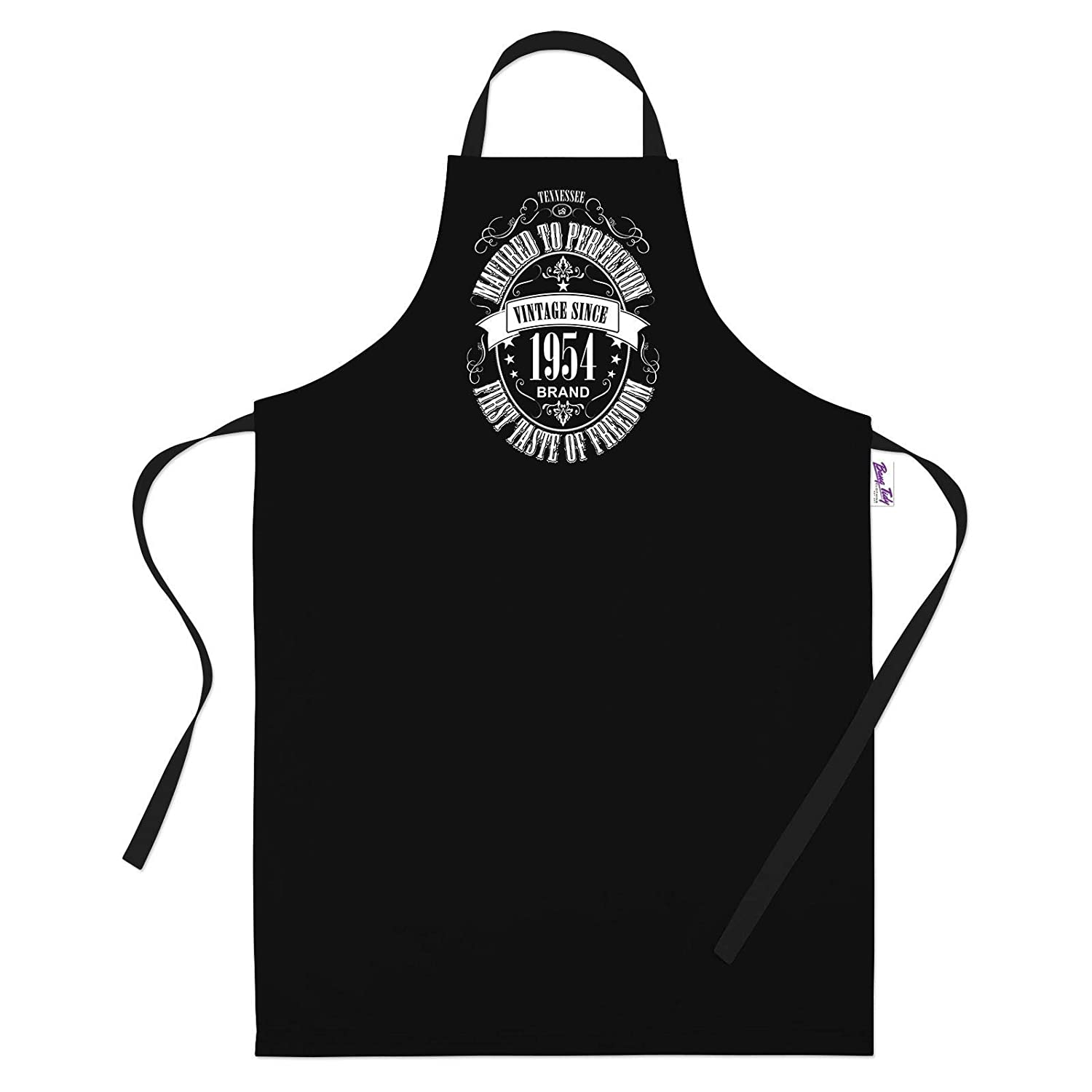 65th Birthday Gifts for Men Him Dad Husband BBQ Cooking Apron Matured 1954