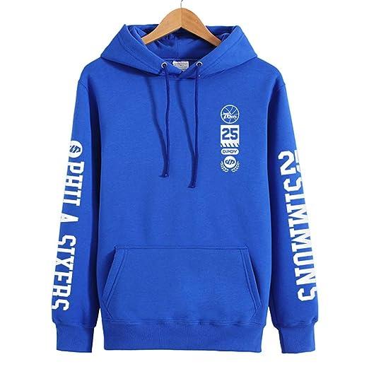 WLDSH 76ers Simmons Camiseta de Baloncesto Sudadera con Capucha ...