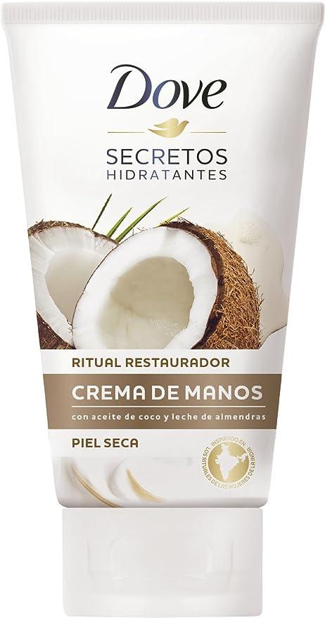 Dove Aceite de Coco y Leche de Almendras Crema de Manos , paquete de 6 (