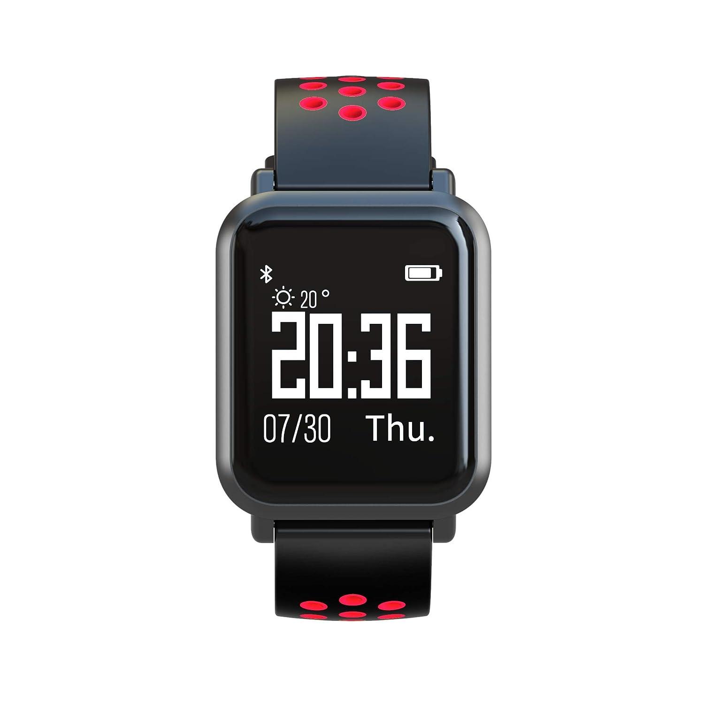 Leotec LESW10R, MultiSport Reloj, Rojo/Negro