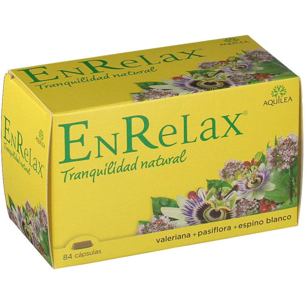 Amazon.com : Aquilea EnRelax 84 Capsules - Natural Tranquility - Valerian, Passionflower, Hawthorn Mixture - Mild Sedative Effect - Easy Sleep Rest ...