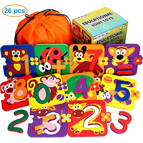 Learning Toys for Toddlers - Number Puzzle for Kids - Preschool Games - Educational Toy for Girls - Toddler Puzzles for Boys - Teaching Aids - Bathtub Toys - Baby Bath Fun Set (13 Puzzles - 26 items) (Preschool Number Game Memory)