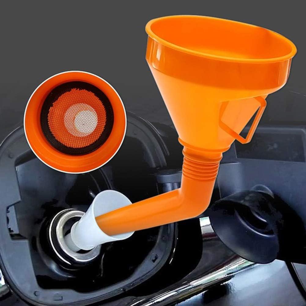 Herramientas de reparaci/ón de autom/óviles embudo de aceite de motor de gasolina universal de pl/ástico con filtro CplaplI