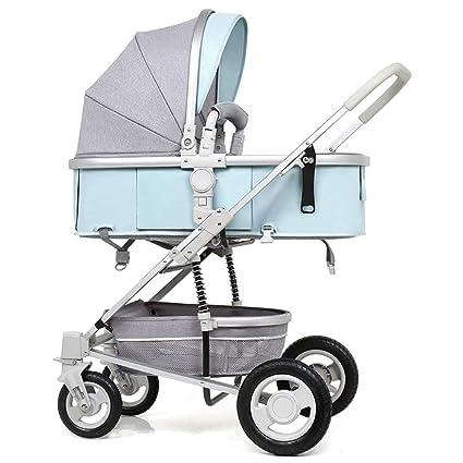 El Carrito de Paseo Alto Puede Sentarse y doblarse en ambas direcciones Amortiguador Cochecito de bebé