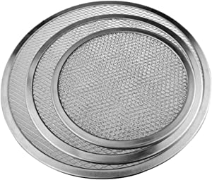 Maserfaliw Pizza Tools Aluminum Thicken Non-stick Net Round Pizza Mesh Pan Baking Tray Kitchen Tool 16 inch
