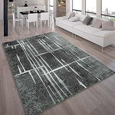 Tappeto Moderno Di Design Pelo Corto Alla Moda Tappeto Melange In Grigio  Nero Bianco 07d4500a8513
