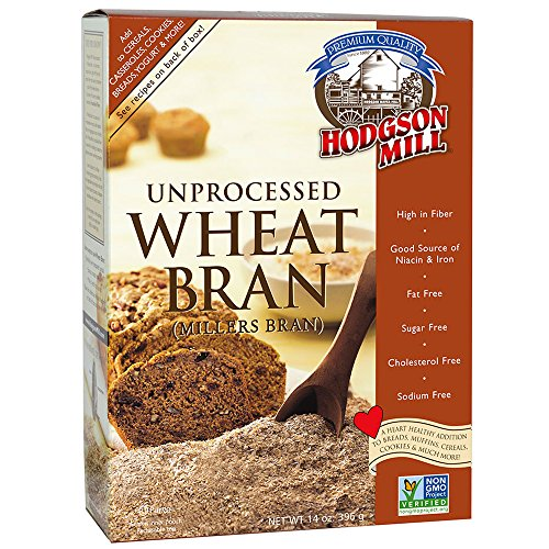 Wheat Bran Cereal - Hodgson Mill Wheat Bran, Unprocessed Millers Bran, 12-Ounce (Pack of 6)