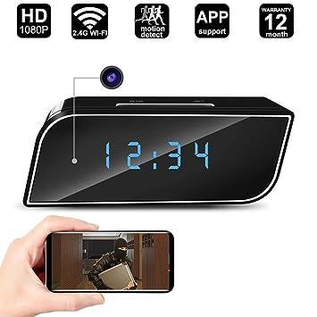 Kefaith Spy Hidden Camera Alarm Clock 1080P 2.4G WiFi Cámara Oculta Detección de Movimiento Cámara