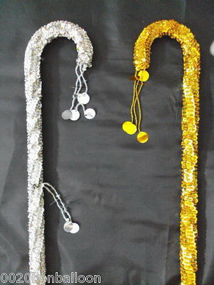 bonballoon 2pcs Belly Dance Canes Sticks Egyptian Decorated Sequins Beads Handmade by bonballoon
