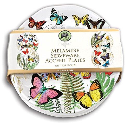 Michel Design Works Accent Plate Set of 4 (Papillon)]()