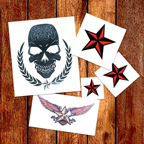 Nautical Star Pack Temporary Tattoos | Skin Safe | MADE IN THE USA| Removable