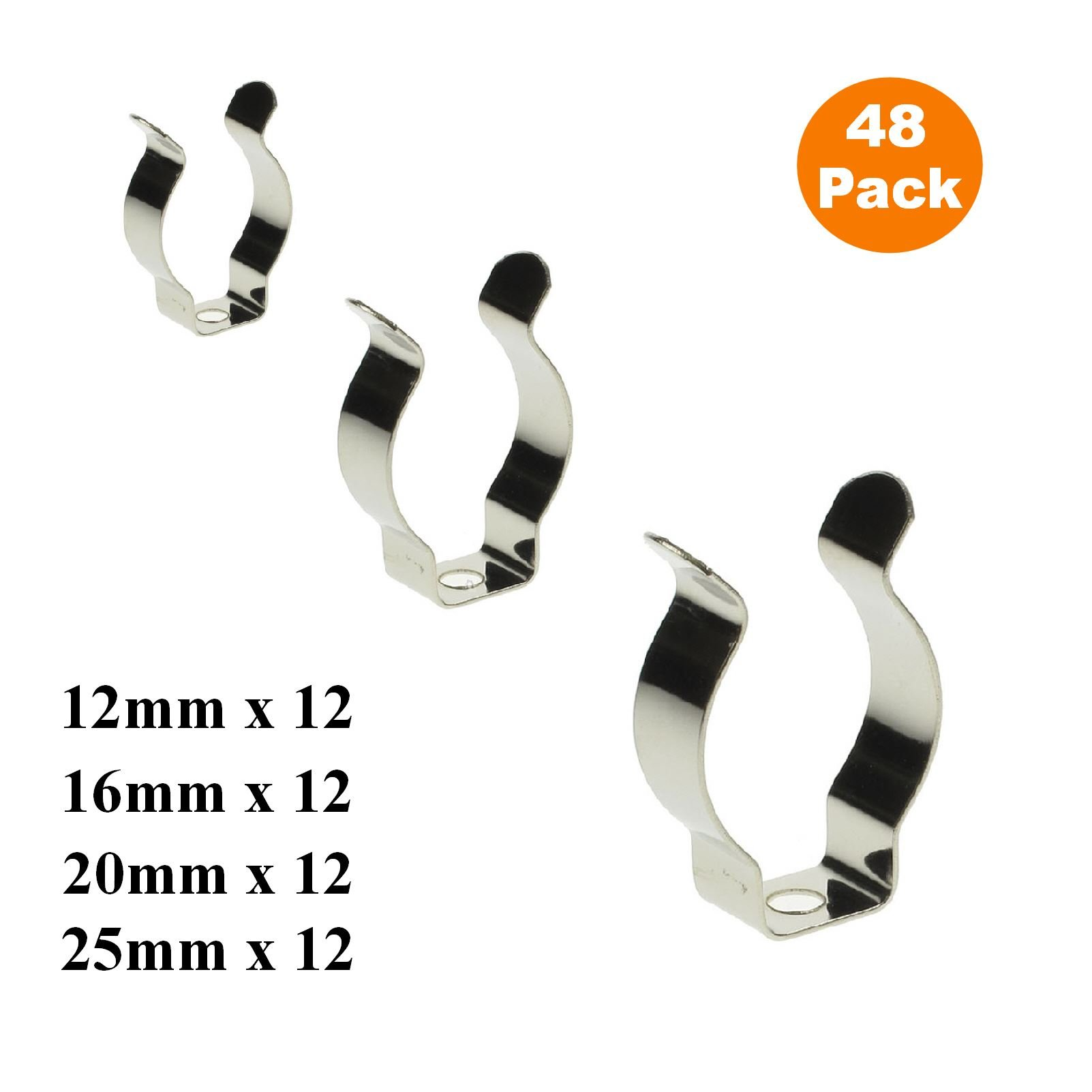 48 x Assorted Narrow Base Tool Spring Terry Clips / Heavy Duty Storage Hangers by Smarthome