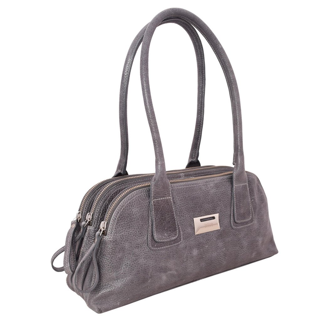 Latico Leathers Louise Shoulder Bag Genuine Authentic Luxury Leather, Designer Made, Business Fashion and Casual Wear, Pebble Denim