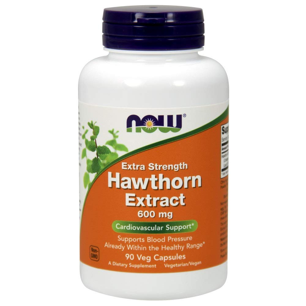 Now Supplements, Hawthorn Extract, Extra Strength 600 mg, 90 Veg Capsules