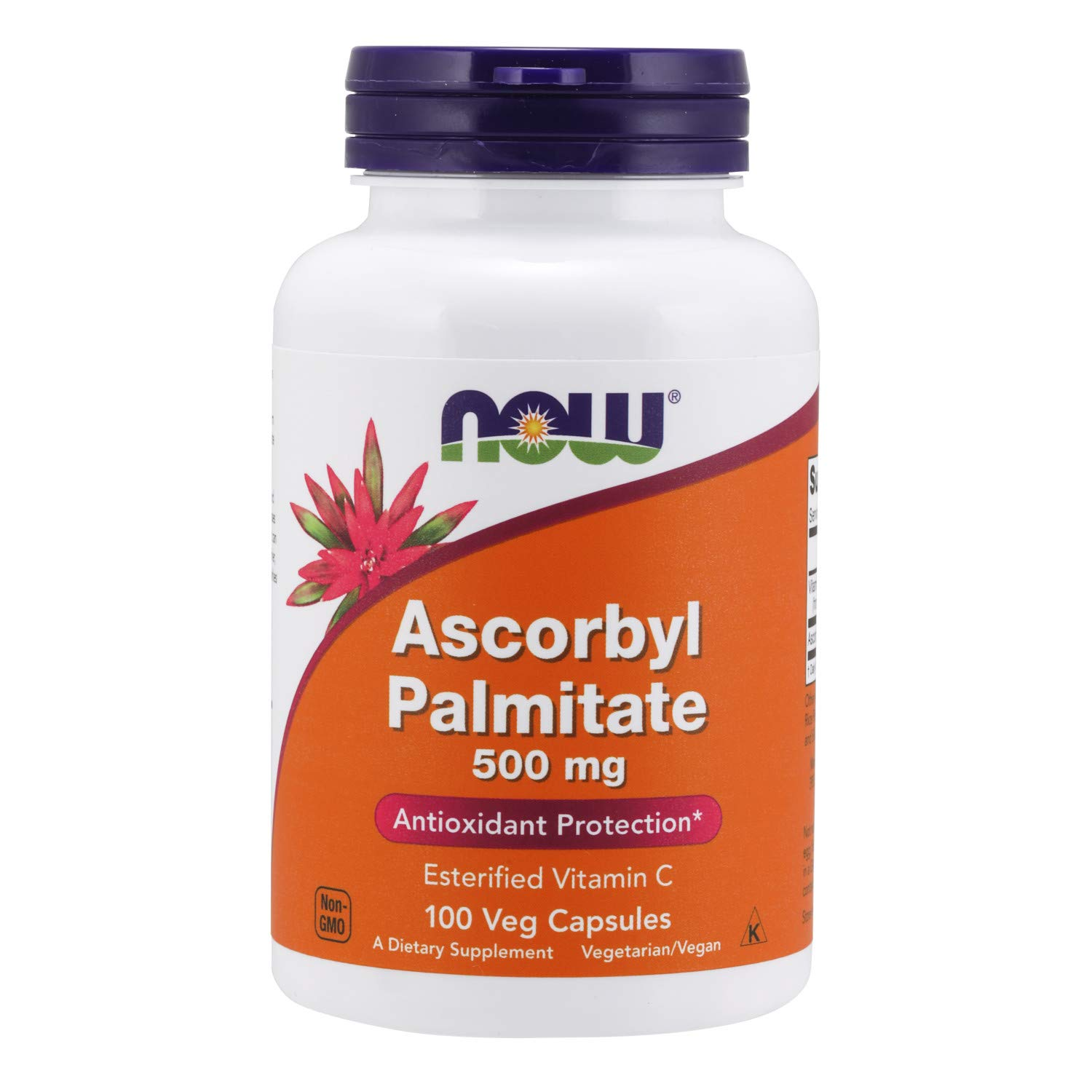 NOW Supplements, Ascorbyl Palmitate 500 mg, Esterified Vitamin C, Antioxidant Protection*, 100 Veg Capsules