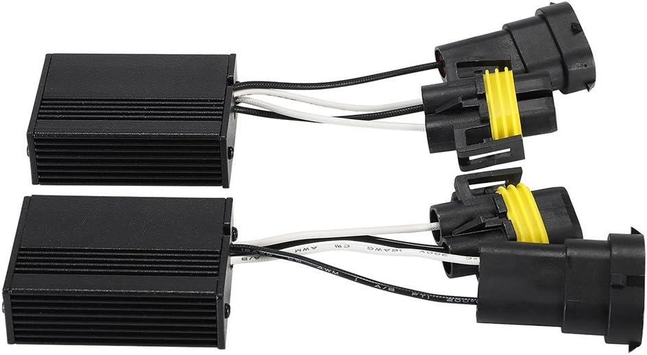 NOVSIGHT H1 H3 H7 LED Warning Canceller Canbus Error Free Load Resistor Anti Flicker LED Decoder for Headlight Fog Bulb