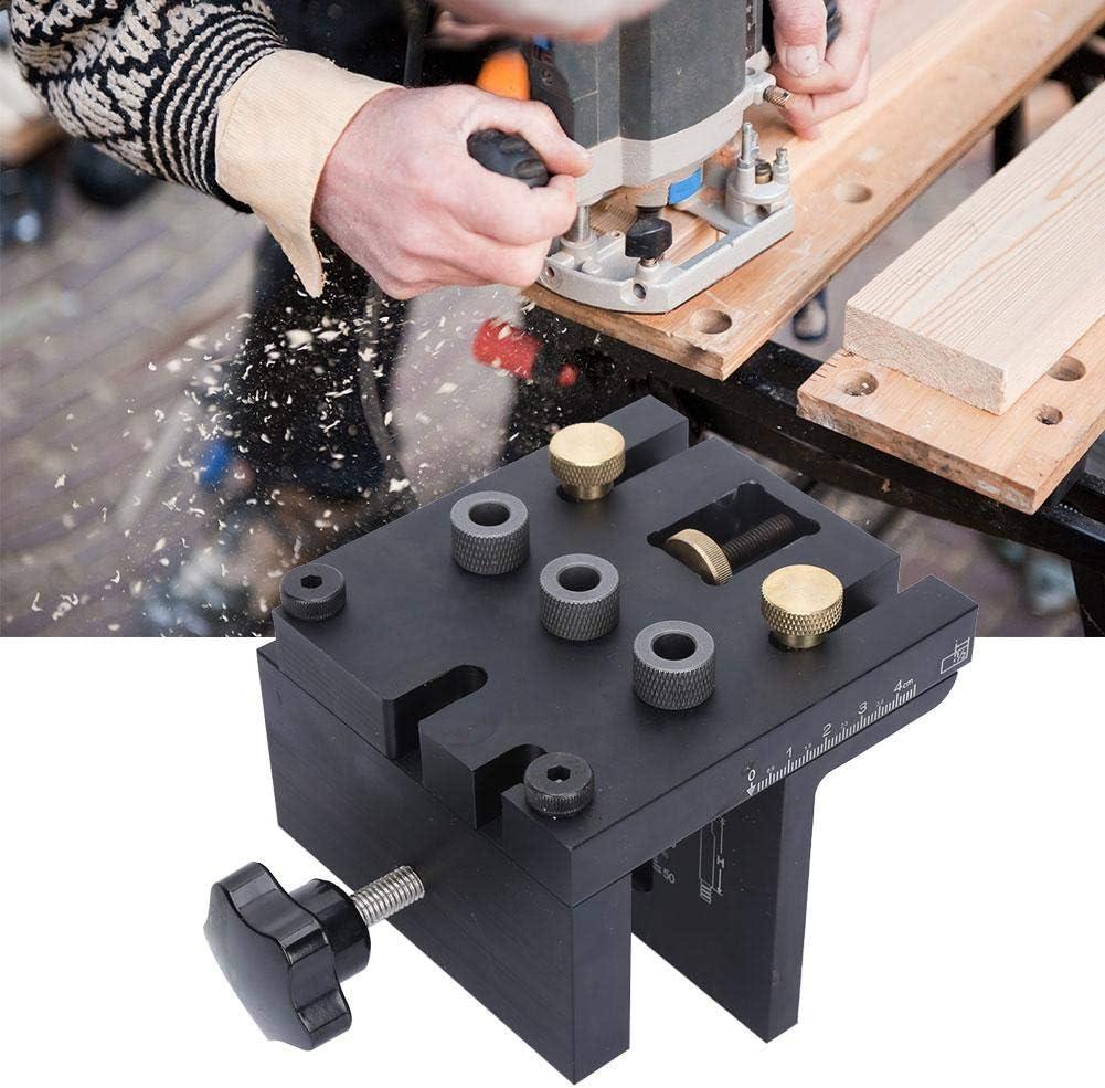 kit de guide de per/çage de gabarit de per/çage de trou de rep/érage de trou de per/çage 3 en 1 Outil de positionnement pour le travail du bois
