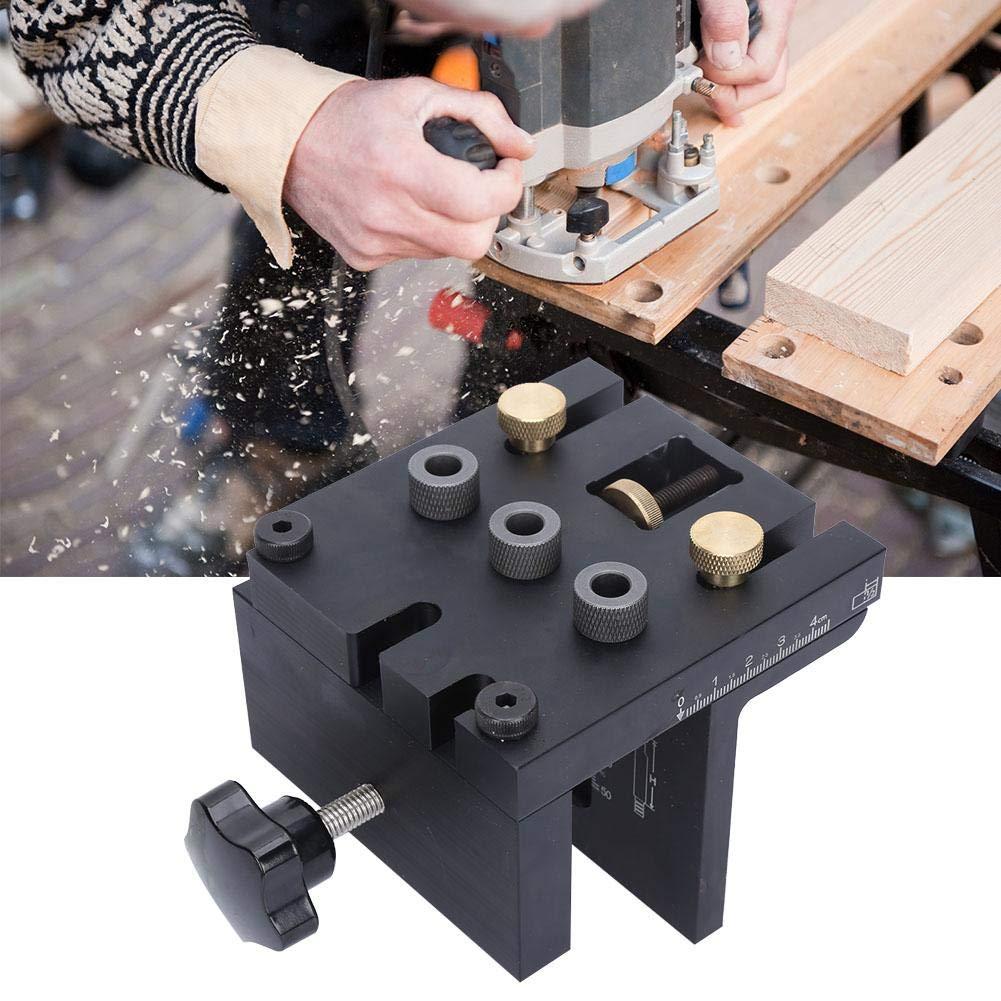 Localisateur 3-en-1 pour le forage du bois Localisateur de trous Perforateur Kit de guide de per/çage de gabarit pour le travail du bois 3-en-1