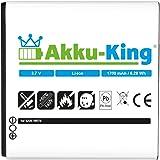 Akku-King 20109483 - Batería para Samsung Galaxy S Advance (Li-ion, 1700 mAh, 3.7 V), blanco