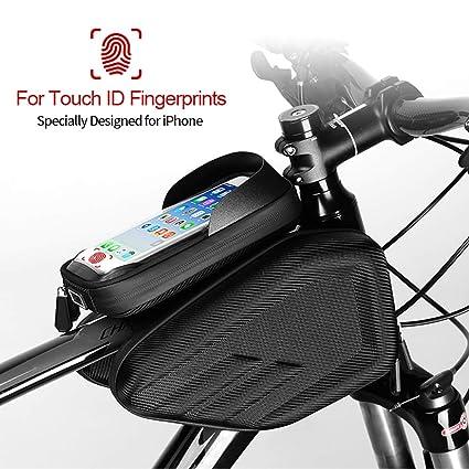 32f2f139391 ANLIN - Bolsa Impermeable para Bicicleta, Marco de Cabeza Frontal, Bolsa de  Ciclismo,