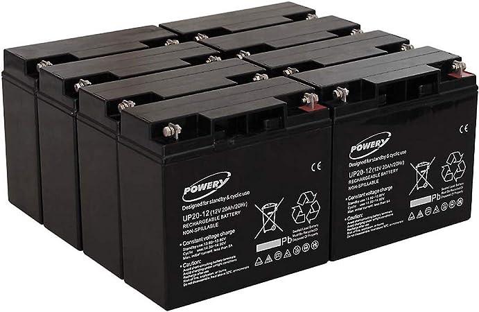 akku-net Blei-Gel Akku f/ür USV APC Smart-UPS SMT2200I 20Ah Lead-Acid ersetzt auch 18Ah 12V