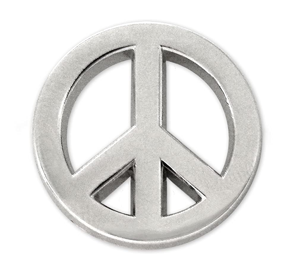 Amazon Pinsanity Peace Symbol Lapel Pin Clothing