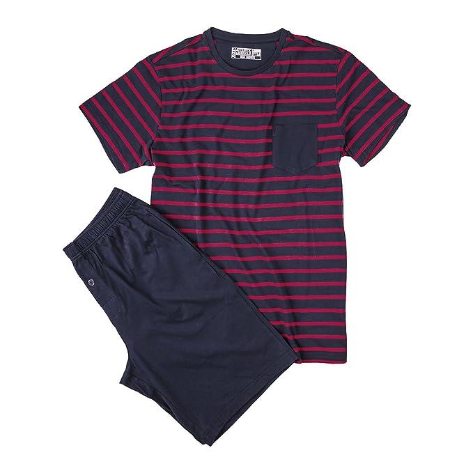 Jockey Pijama XXL Corto Azul Marino con Top Rayado, 2xl-8xl:2XL