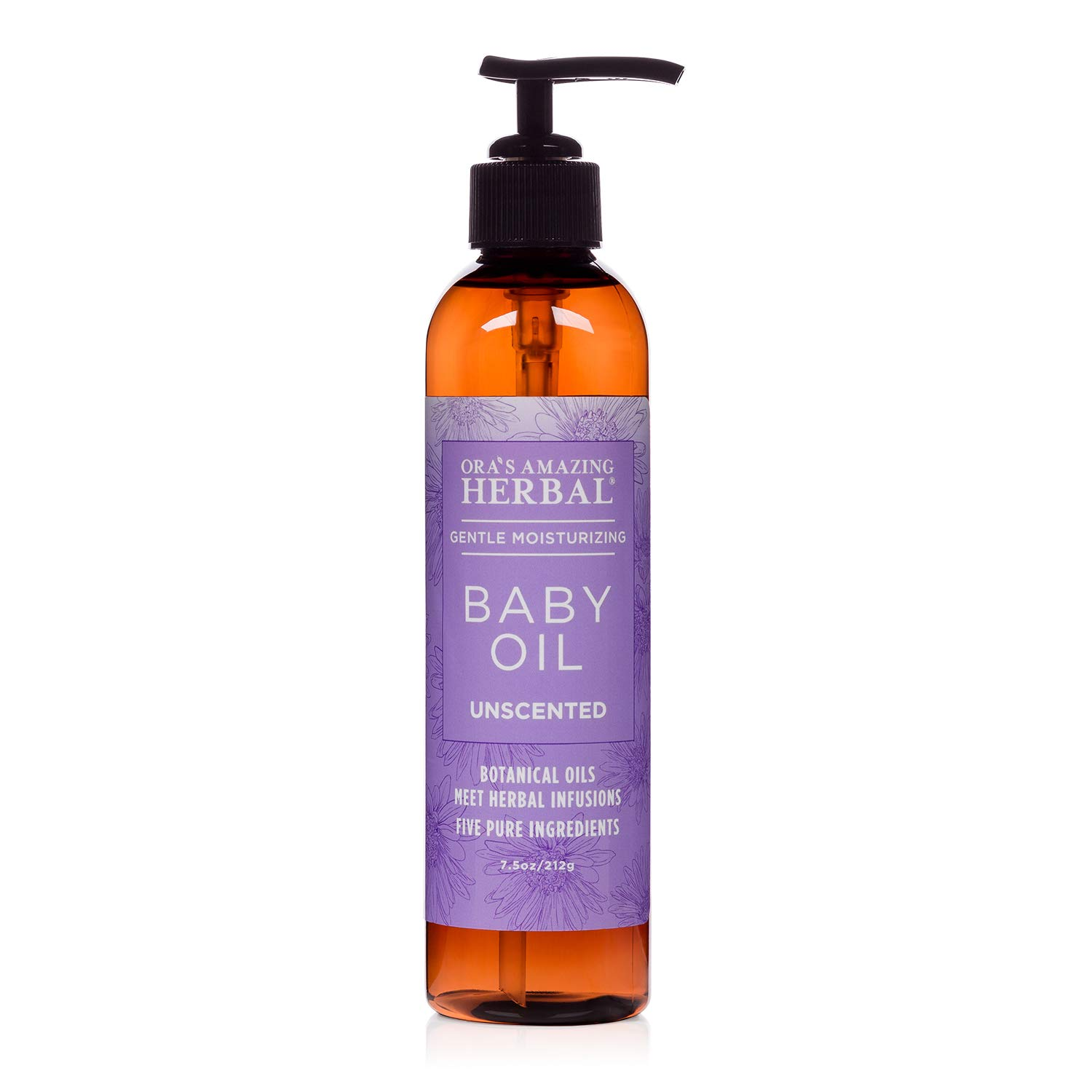 Natural Baby Oil, Natural Skin Care for Babies, Unscented Infant Massage Oil with Soothing Organic Calendula and Licorice Root, 5 Ingredients Only, Fragrance Free, Ora's Amazing Herbal by Ora's Amazing Herbal
