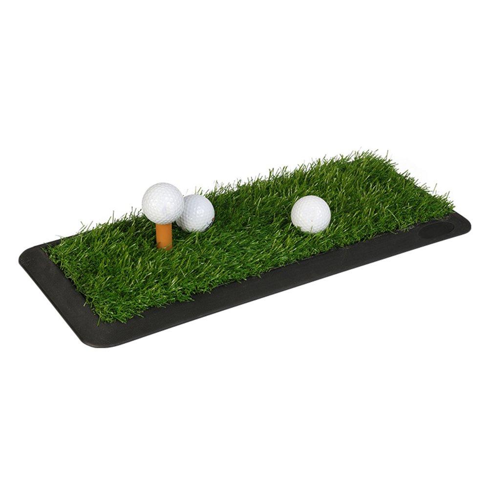 1つのティーのオフィスのポータブルが付いているQiangDaの屋内ゴルフパッティング/練習のマットのSodのゴム製打撃パッド、草の厚さ:2cm、3サイズ任意(サイズ:47.5 x 20cm)   B07B46VNPY