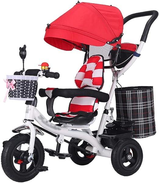 4-en-1 Cochecito de bebé Trike Bike Marco de Acero de Alto Carbono ...