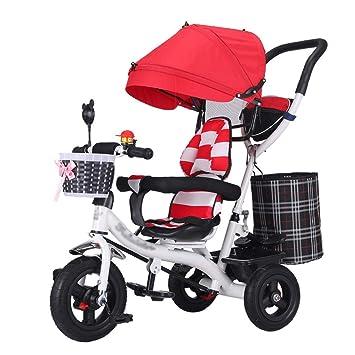 4-en-1 Cochecito de bebé Trike Bike Marco de Acero de Alto Carbono
