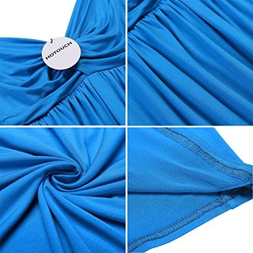 Pigiama Notte Da Camicia Sottili Vestaglia Hotouch Scollo Tipo2 V Blu Lago Spalline Donna w0Yw1XH8
