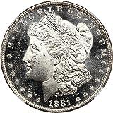 1881 O Morgan Dollars Dollar MS64 NGC DMPL