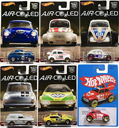 Vw Bug Air Cooled Wheels: Hot Wheels Volkswagen Set 5-Pack Air Cooled With Exclusive