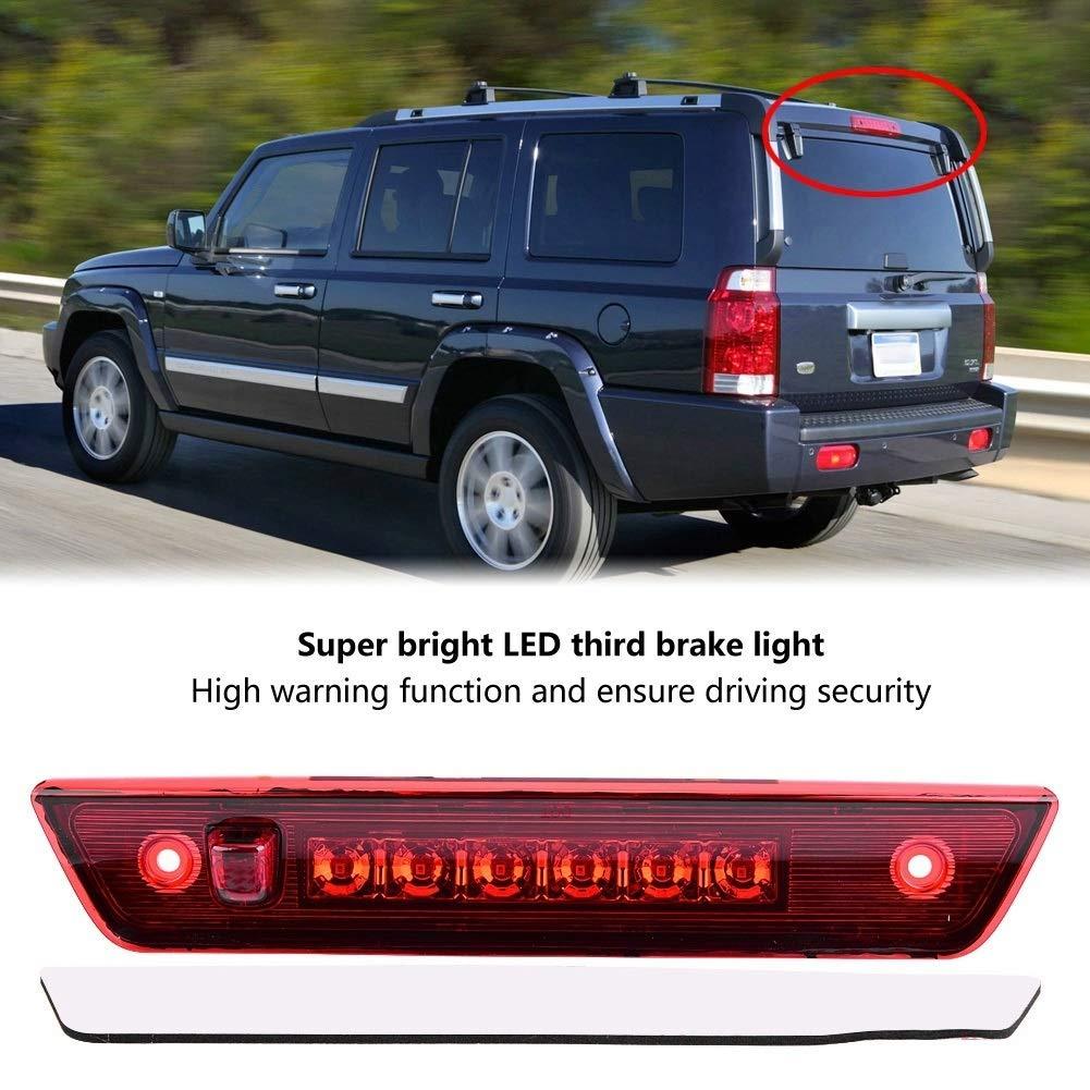 Drittel Nikou Auto-Bremslicht hinten LED-Bremslicht hinten 3 Chrom /& Rot for Jeep Grand Cherokee 2005-2010
