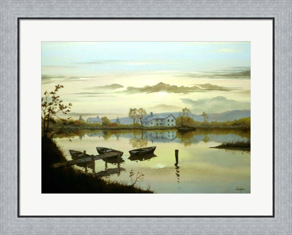 Amazon.com: Tranquil Lake by Thomas Linker Framed Art Print Wall ...