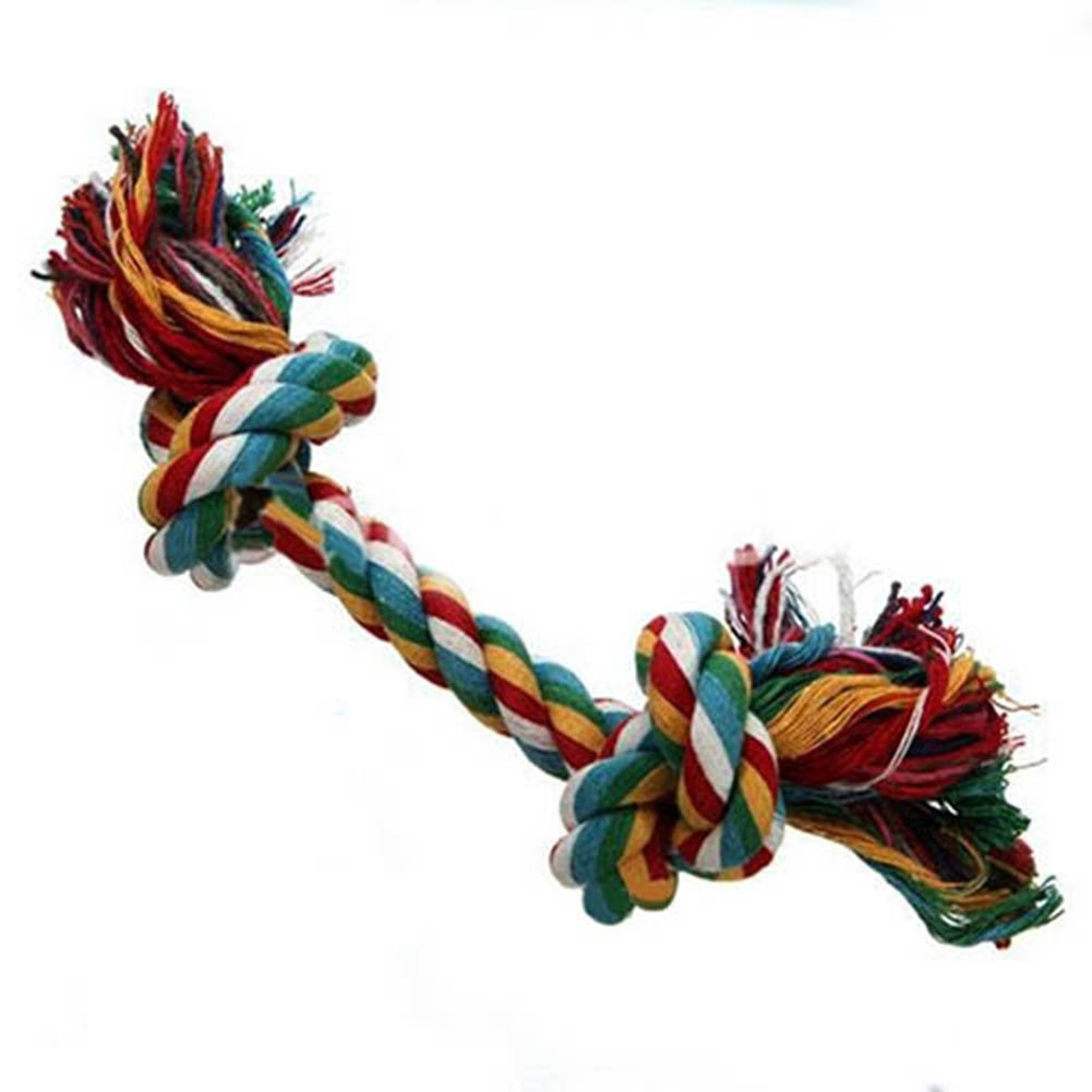 WISTIC Chew Toys, Dog Puppy Pet Braided Cotton Rope Knotted Bone Shape Chew Play Toy Funny Gift