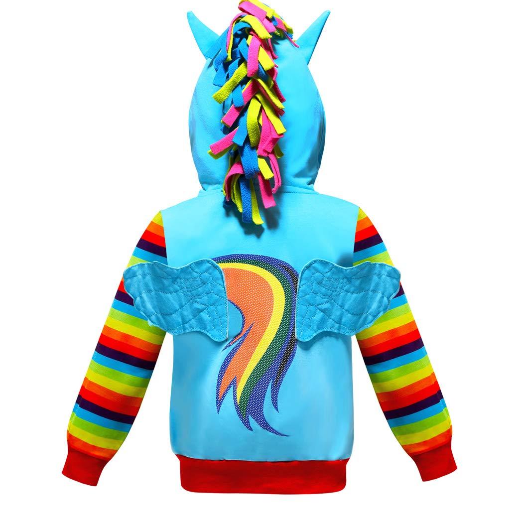 2-10 Years Girls Hoodies Coat Little Pony Rainbow Dash Hoodie