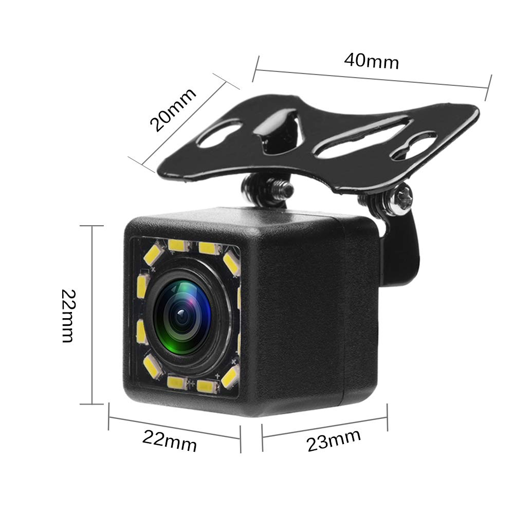 CL1103D2in1 MiCarBa Car Backup Camera 2-in-1 18.5mm Flush Mount Reverse Camera /& Bracket Mount HD Color CMOS Auto Rear View Camera Waterproof Front CAM